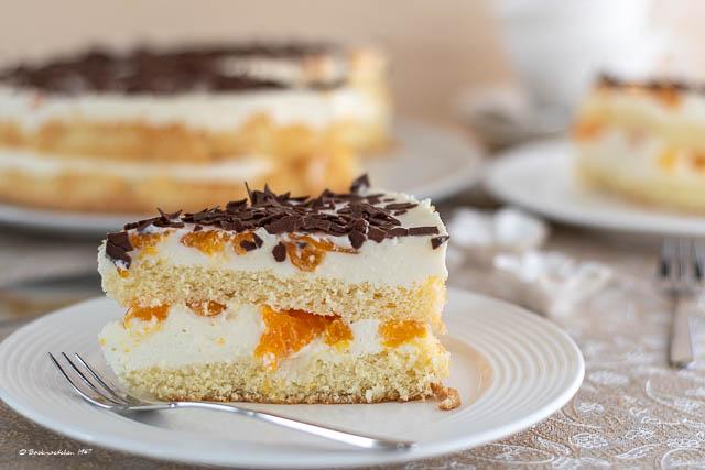 Mandarinen-Quark-Sahne Torte - Backmaedchen 1967
